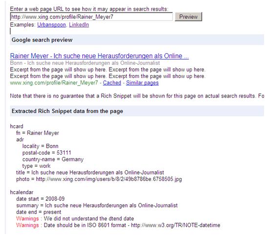 Suchmaschinen-Optimierung und Mikroformate • SEO-AMBULANCE+de®