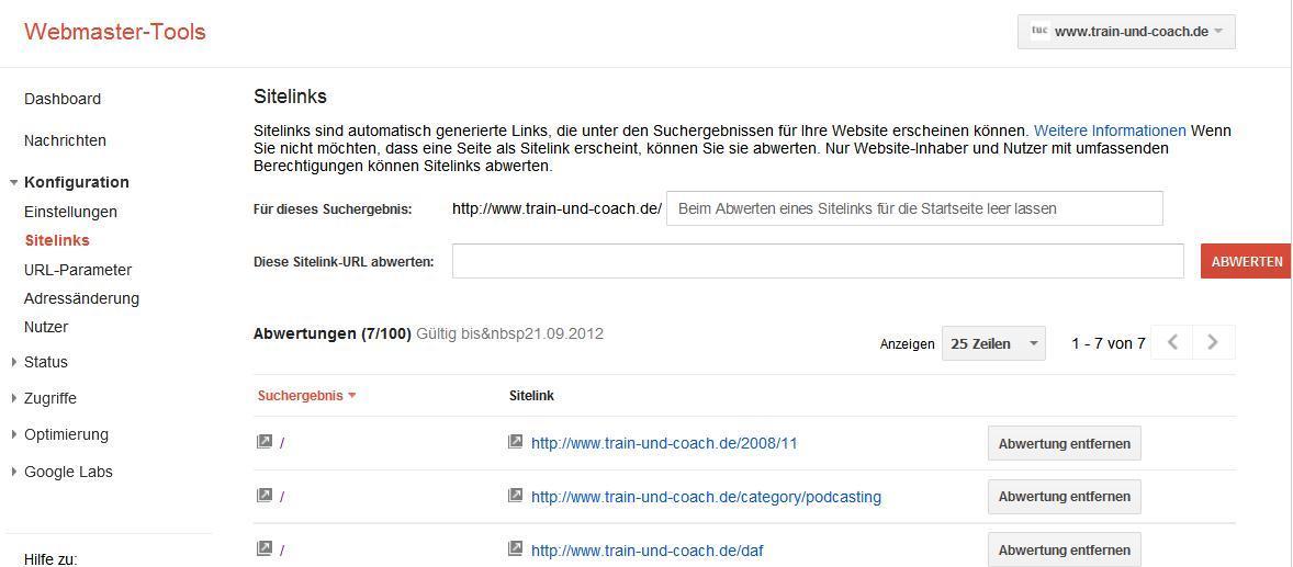 google-sitelinks-können-beeinflusst-werden