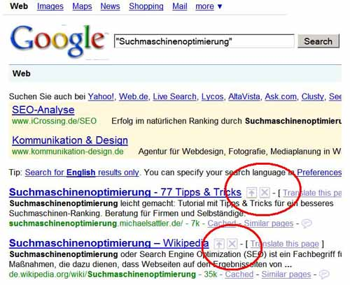 """""""SearchWiki"""" und """"Preferred Sites"""": neue Trends bei der Google-Suche • SEO-AMBULANCE+de®"""
