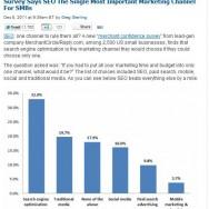 Suchmaschinen-Optimierung ist auch für kleine und mittlere Unternehmen ein wichtiger Vertriebskanal