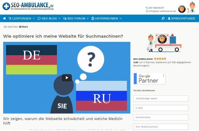 Website-Erstellung auf Russisch