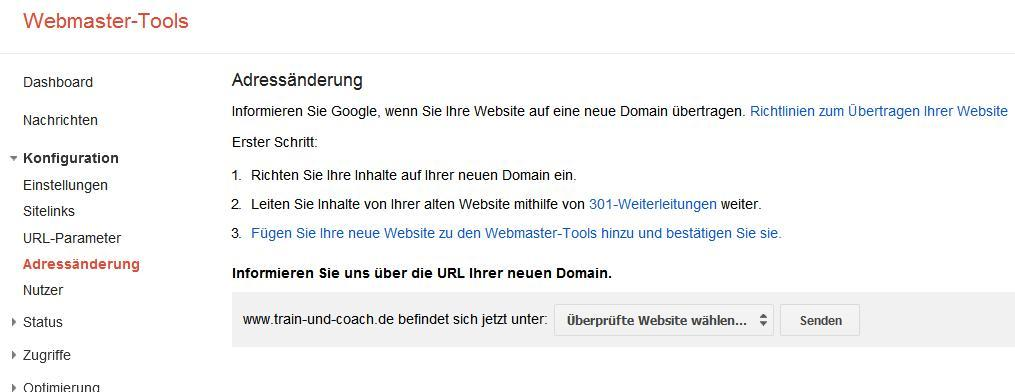 weiterleitung-webmaster-tools